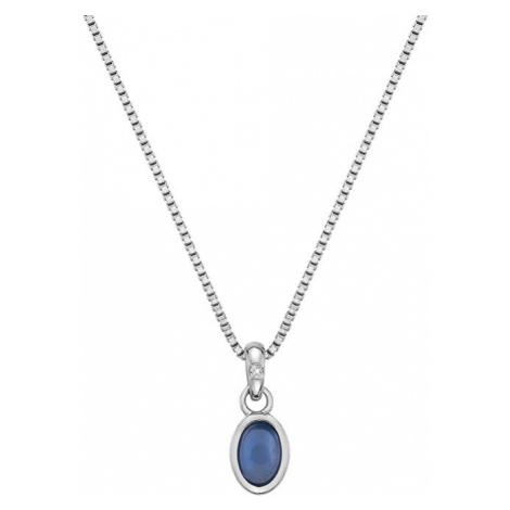 Hot Diamonds Strieborný náhrdelník pre narodené v septembri Birthstone DP762