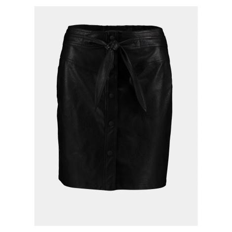 Čierna koženková sukňa Hailys Haily´s