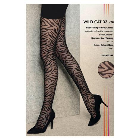 Čierne vzorované pančuchy Wild Cat 03 20DEN Gatta