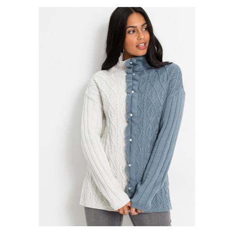 Oversize-pulóver s perlami bonprix