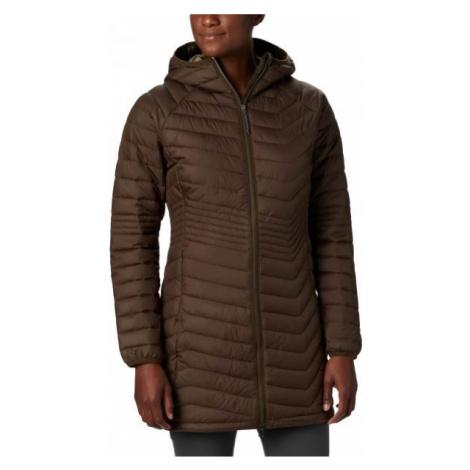 Columbia POWDER LITE MID JACKET hnedá - Dámska dlhá zimná bunda