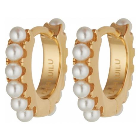 OHH LUILU Náušnice 'Pearl Earrings'  perlovo biela / zlatá