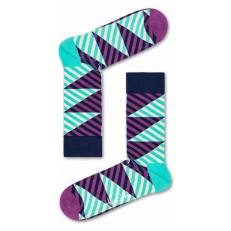 Happy Socks Diagonal Stripe Sock-7.5-11.5 farebné DIS01-5300-7.5-11.5