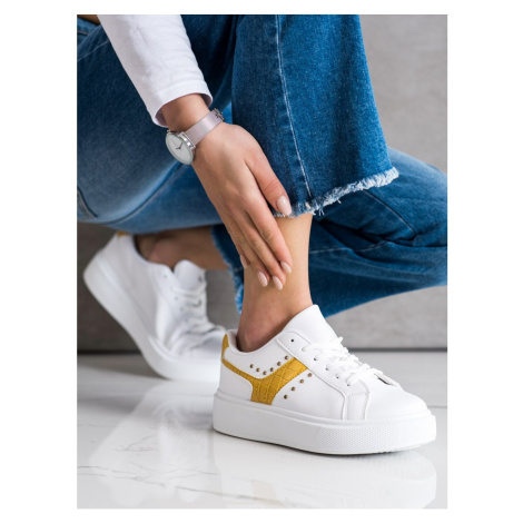 SHELOVET CASUAL SNEAKERS IN ECO LEATHER