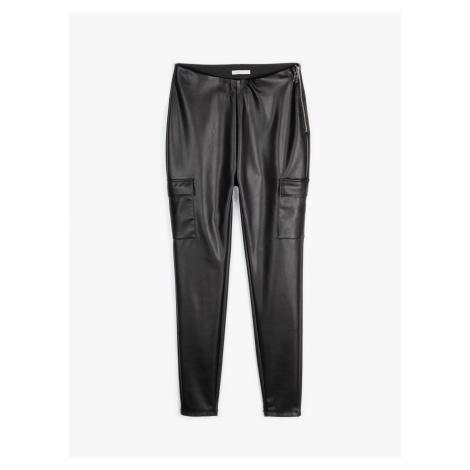 GATE Kapsáčové nohavice z imitácie kože