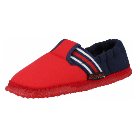 GIESSWEIN Papuče 'Aichach'  ohnivo červená / námornícka modrá / biela
