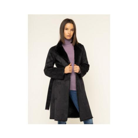 Liu Jo Prechodný kabát C69302 E0044 Čierna Regular Fit