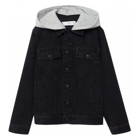 MANGO KIDS Prechodná bunda 'Misty'  čierna / sivá melírovaná