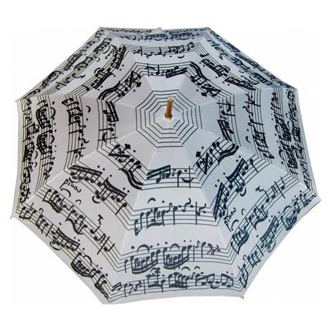 Blooming Brollies Palicový dáždnik White Music Notes LRWP877/MM