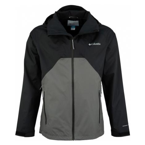 COLUMBIA Outdoorová bunda 'Rain Scape Jacket'  tmavosivá / čierna