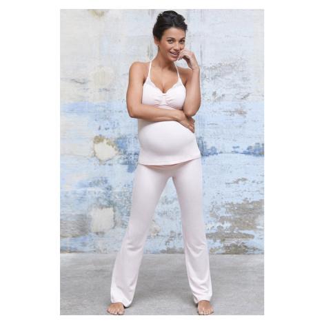 Svetloružové tehotenské pyžamové nohavice Serenity
