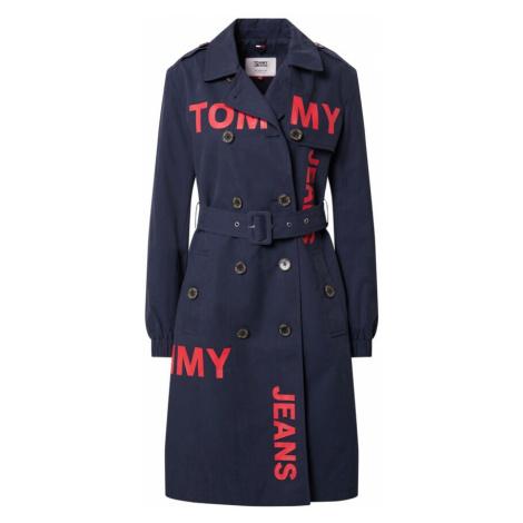 Tommy Jeans Prechodný kabát  červená / námornícka modrá Tommy Hilfiger