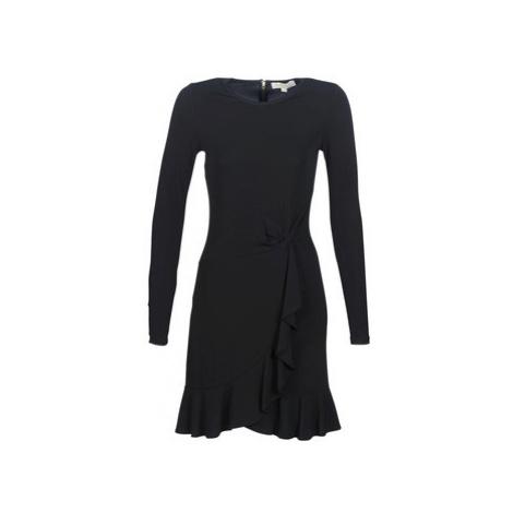 MICHAEL Michael Kors LS TWIST WAIST DRESS Čierna