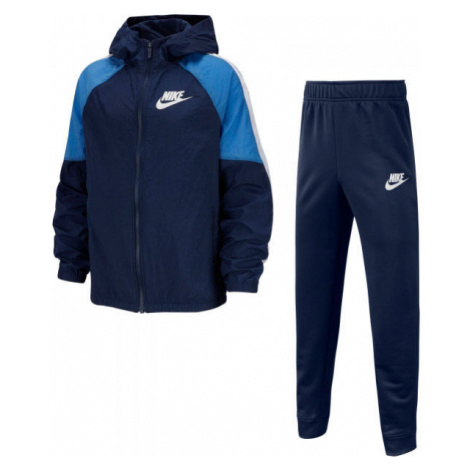 Nike NSW WOVEN TRACK SUIT B tmavo modrá - Chlapčenská tepláková súprava