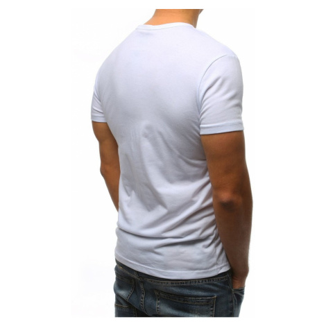 White RX3167 men's T-shirt with print DStreet