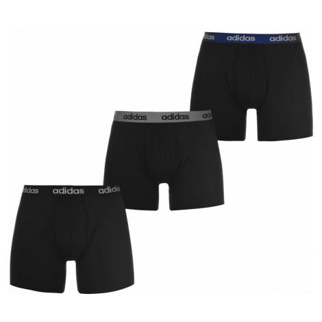 Adidas 3 Pack Performance Boxer Shorts Mens Black