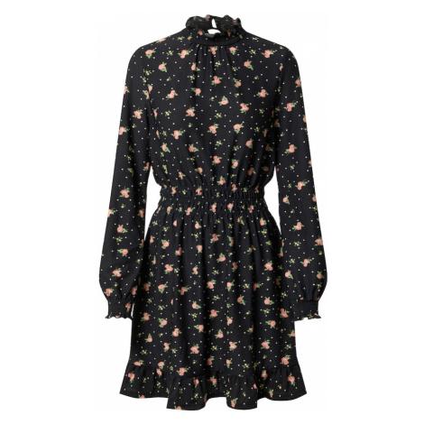 Miss Selfridge Šaty  čierna / ružová / svetlozelená / biela