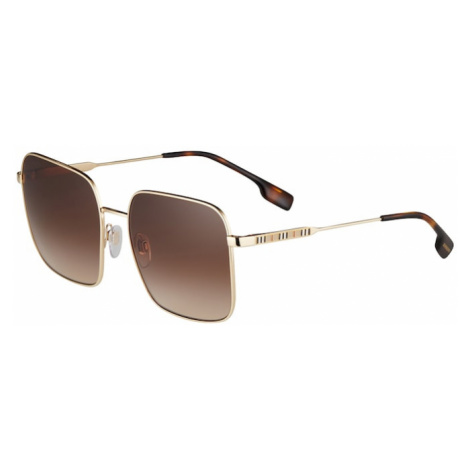 BURBERRY Slnečné okuliare 'JUDE'  zlatá / čokoládová
