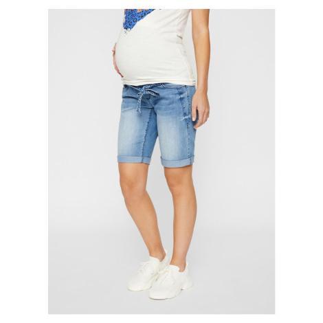 Modré tehotenské rifľové kraťasy Mama.licious Mama Licious