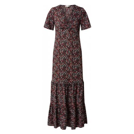 Miss Selfridge Šaty 'KNOT FRONT MAXI SMOC'  čierna / červená