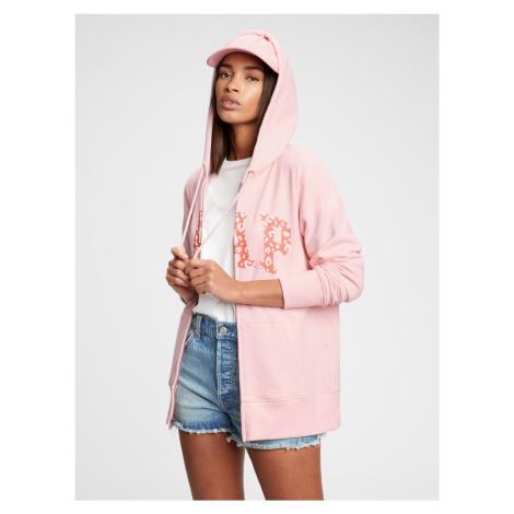 GAP ružové dámska mikina Logo easy hoodie