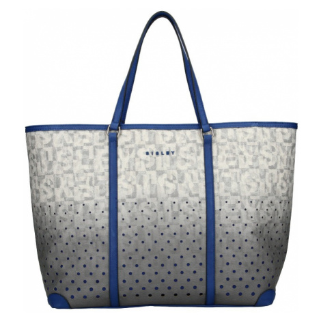 Dámska kabelka Sisley Radka - šedo-modrá
