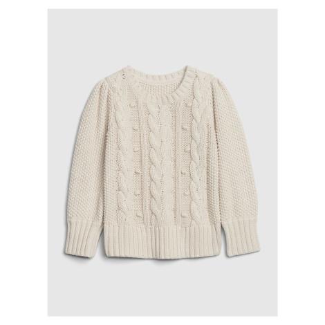 Béžový dievčenský sveter GAP