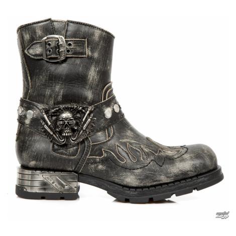 topánky kožené NEW ROCK Čierna