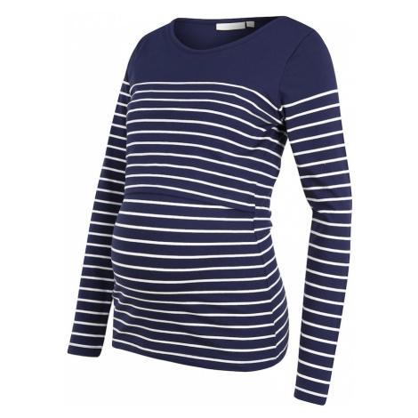 JoJo Maman Bébé Tričko 'Breton'  biela / námornícka modrá