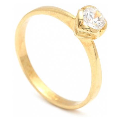 Zlatý zásnubný prsteň PHYLLIDA
