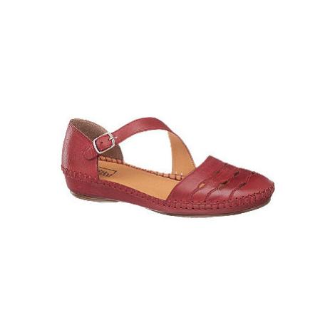 Červené kožené komfortné sandále Easy Street
