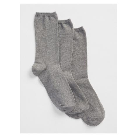 GAP sivé 3 pack ponožiek basic crew socks