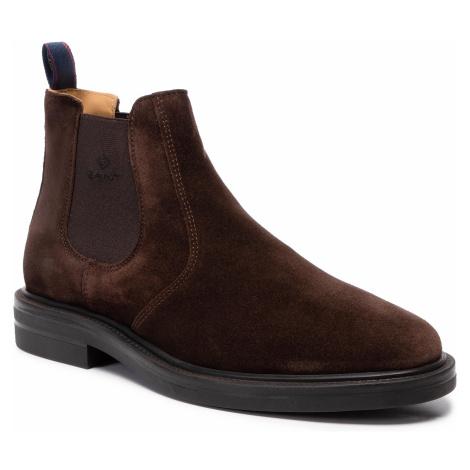 Kotníková obuv s elastickým prvkom GANT - Fargo 19653899 Dark Brown G46
