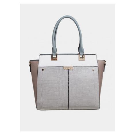 Svetlošedá kabelka s krokodýlím vzorom Bessie London