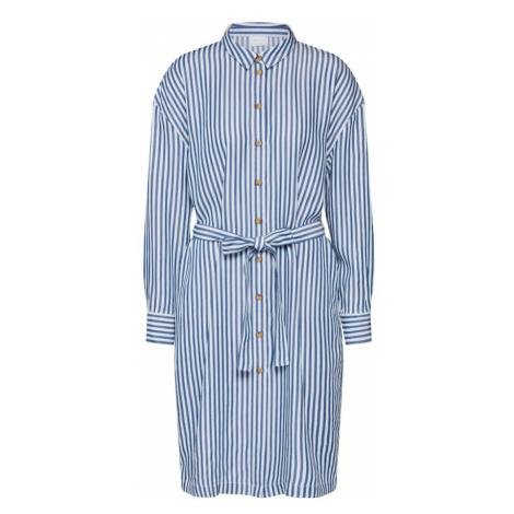 VILA Košeľové šaty 'Visuka'  biela / modrá