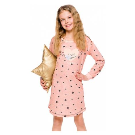Dievčenská košieľka Malina staroružová s hviezdami