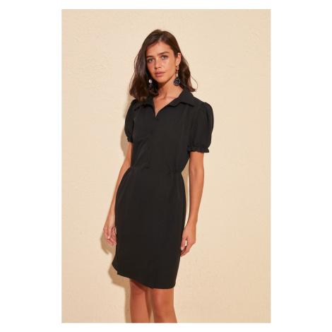 Trendyol Black Button Detailed Dress