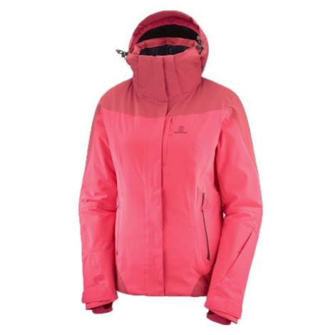 Salomon ICEROCKET JKT W ružová - Dámska lyžiarska bunda
