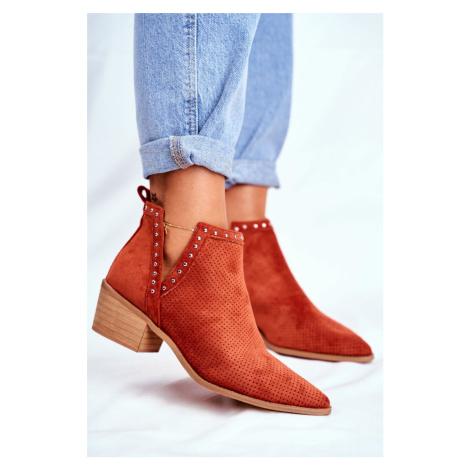 Členkové topánky v oranžovej farbe