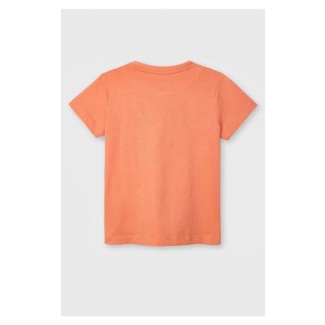 Dievčenské tričko Mayoral Apricot oranžová