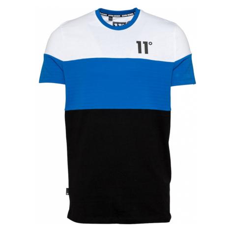 11 Degrees Tričko  biela / čierna / kráľovská modrá