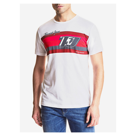 Tričko Trussardi T-Shirt Cotton Jersey Regular Fit Biela