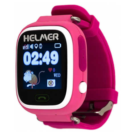 Helmer Chytré dotykové hodinky s GPS lokátorem LK růžové