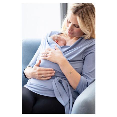 Svetlomodrý zavinovací top pre mamičky Skin to Skin Winifrid 3/4
