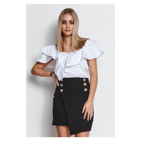 Čierna mini sukňa M662 Makadamia