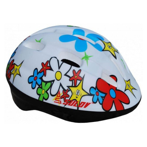 Dětská cyklo helma SULOV JUNIOR, bílá s květy Helma
