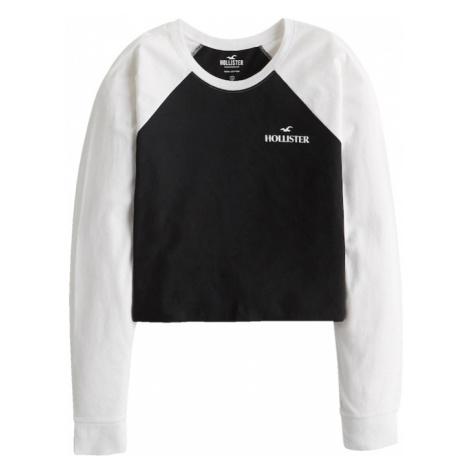 HOLLISTER Tričko  čierna / biela