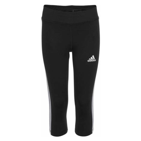 ADIDAS PERFORMANCE Športové nohavice  biela / čierna