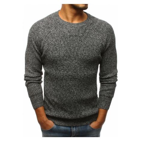 Trendy pánsky sivý sveter wx1099