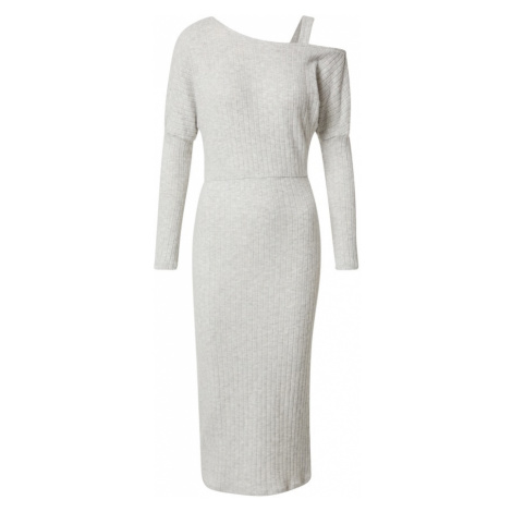 River Island Pletené šaty 'Cosy'  sivá